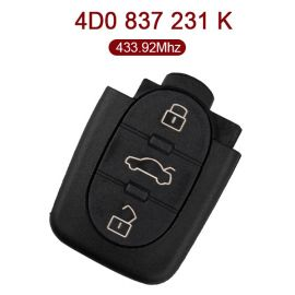 434 MHz Remote Control for VW - 4D0 837 231K