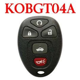 5 Buttons 315 MHz Remote Control for Buick Chevrolet GMC Saturn - KOBGT04A