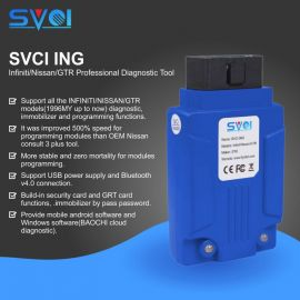 SVCI ING Infiniti/Nissan/GTR Professional Diagnostic Support Programming Update Version of Nissan Consult-3 Plus