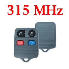 315 MHz 4 Buttons Remote Key for Ford - Gray Color