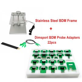 Stainless Steel BDM Frame + 22pcs Dimsport BDM Probe Adapters