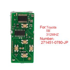for Toyota Smart Card Board 5 Button 312MHz Number 271451-0780-JP