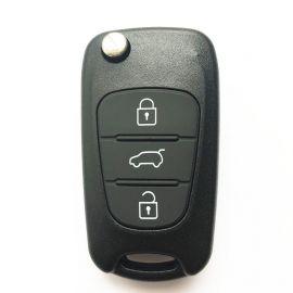 3 Button Flip Remote Key Shell Big Trunk Laser Blade for Hyundai (5pcs)