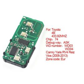 for Toyota Smart PCB Board 433 MHz 4 Button NO.A433 (Use for Middle East Country)