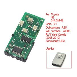 for Toyota Smart Card Board 4 Key 314 Frequency Number 0111-USA