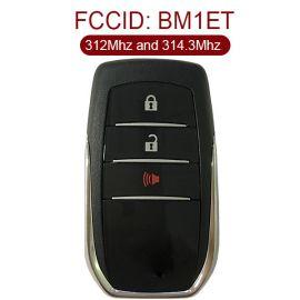 for Toyota fortuner 2+1 Button Smart Card (Tokai Riki) BM1ET 312MHz and 314.3MHz