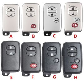 Replacement Smart Remote Key Shell For Toyota 4 Runner Avalon Land Cruiser Prius Highlander Venza Prius V 5pcs/lot