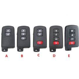 Replacement Smart Remote Key Shell For Toyota Camry Hybrid Avalon Corolla Highlander RAV4 Prius C Tacoma  5pcs/lot