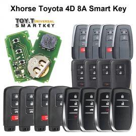 Xhorse XM Series Toyota 4D 8A Smart Key PCB XSTO00EN with key shell