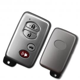 Sliver 3+1 Buttons With Panic 314.3MHz Board Number 0140 ID71-WD02 Smart Key Keyless Go / Entry For Toyota