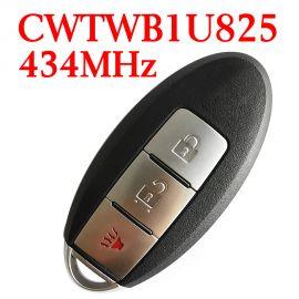(433Mhz) CWTWB1U825 2+1 Buttons Smart Proximity Key for Nissan Cube Armada 2009-2018 - CWTWB1U825 / CWTWB1U773 - ID46- Without Logo