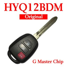 Original 2+1 Buttons 315 MHz Remote Head Key for Toyota Prius 2012-2017 - HYQ12BDM (G Chip)