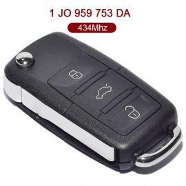 3 Buttons 434 MHz Flip Remote Key for VW - 1J0 959 753DA