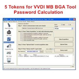 5 Tokens for VVDI MB BGA Tool Password Calculation