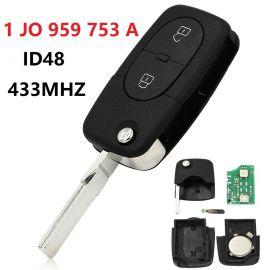 AK001019 for VW Remote Key 2 Button 434MHz 1 JO 959 753 A