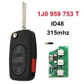 AK001013 for VW Remote Key 3+1 Button 315MHz 1J0 959 753 T