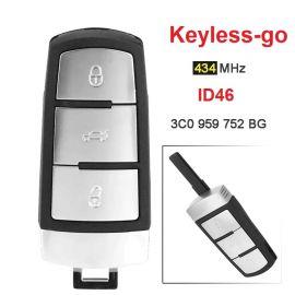 VW Magontan Proximity Key 434 MHz Keyless Go Remote Key with ID46 Chip