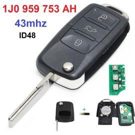 AK001005 for VW Mk4 Golf Bora Passat Flip Key 3 Button 434MHz 1J0 959 753 AH