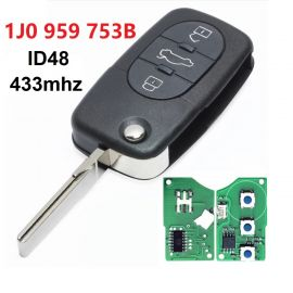 3 Buttons 434 MHz Flip Remote Key for VW - 1J0 959 753B