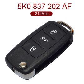 3 Buttons 315 MHz Flip Key for New VW - 5K0 837 202AF  202 AF