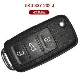3 Buttons 434 MHz Flip Remote Key for VW - 5K0 837 202J