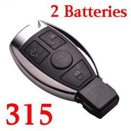 3 Buttons 315 MHz NEC Smart Key For Mercedes Benz C E S Class - with Double Batteries