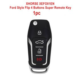 XHORSE XEFO01EN Ford Style Flip 4 Buttons Super Remote Key Built-in Super Chip English Version