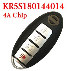 (434MHz) KR5S180144014 - 3+1 Buttons Smart Proximity Key for Nissan Altima Maxima 2016-2018 ( with Logo)