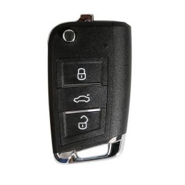 Xhorse VW MQB XKMQB1EN 3 Buttons Flip Regular Key 5Pcs/lot