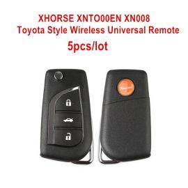 XHORSE XNTO00EN Wireless Universal Remote Key Toyota Style 3 Buttons Remotes for VVDI Key Tool English Version 5pcs/lot