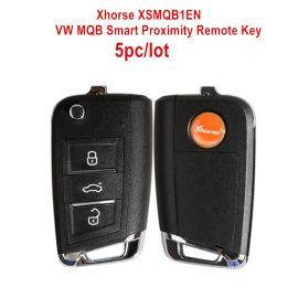 Xhorse VW MQB Smart Proximity Remote Key XSMQB1EN 3 Buttons for VVDI2 VVDI Key Tool 5pcs/lot
