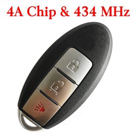 (434MHz) KR5S180144014 (4A Chip) 2+1 Buttons Smart Proximity Key for Nissan Murano S Pathfinder Titan 2015-2017