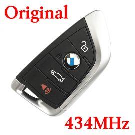 Original 4 Buttons 434 MHz Smart Proximity Key for 2014-2018 BMW 5 X5 X6 - CAS4 CAS4+ FEM BDC Universal Key