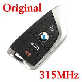 Original 4 Buttons 315 MHz Smart Proximity Key for 2014-2018 BMW 5 X5 X6 - CAS4 CAS4+ FEM BDC Universal Key