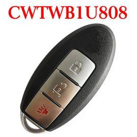 (315MHz) CWTWB1U808  2+1 Buttons Smart Proximity Key for Nissan Cube Juke Leaf Quest Versa Note 2011-2018