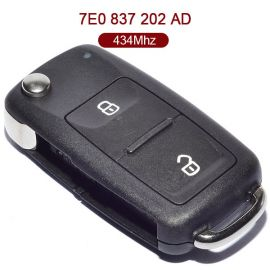 2 Buttons 434 MHz Flip Remote Key for VW ID48 7E0 837 202AD