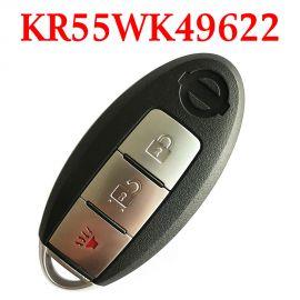 (315MHz) KR55WK49622 - 2+1 Buttons Smart Proximity Key for Nissan Murano / 370Z 2009-2017