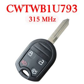(315Mhz) CWTWB1U793 4 Buttons Remote Head Key for 2011-2015 Ford - ( with 4D63 80 bit chip)