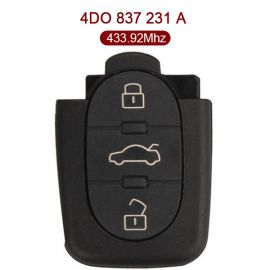 3 Buttons 434 MHz Remote Key for Europe South America Audi - 4D0 837 231A