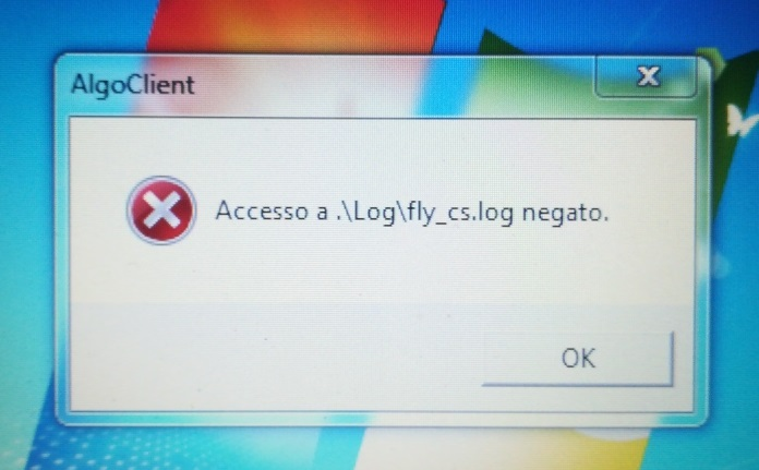 Access to .\Log\fly_cs.log was denied