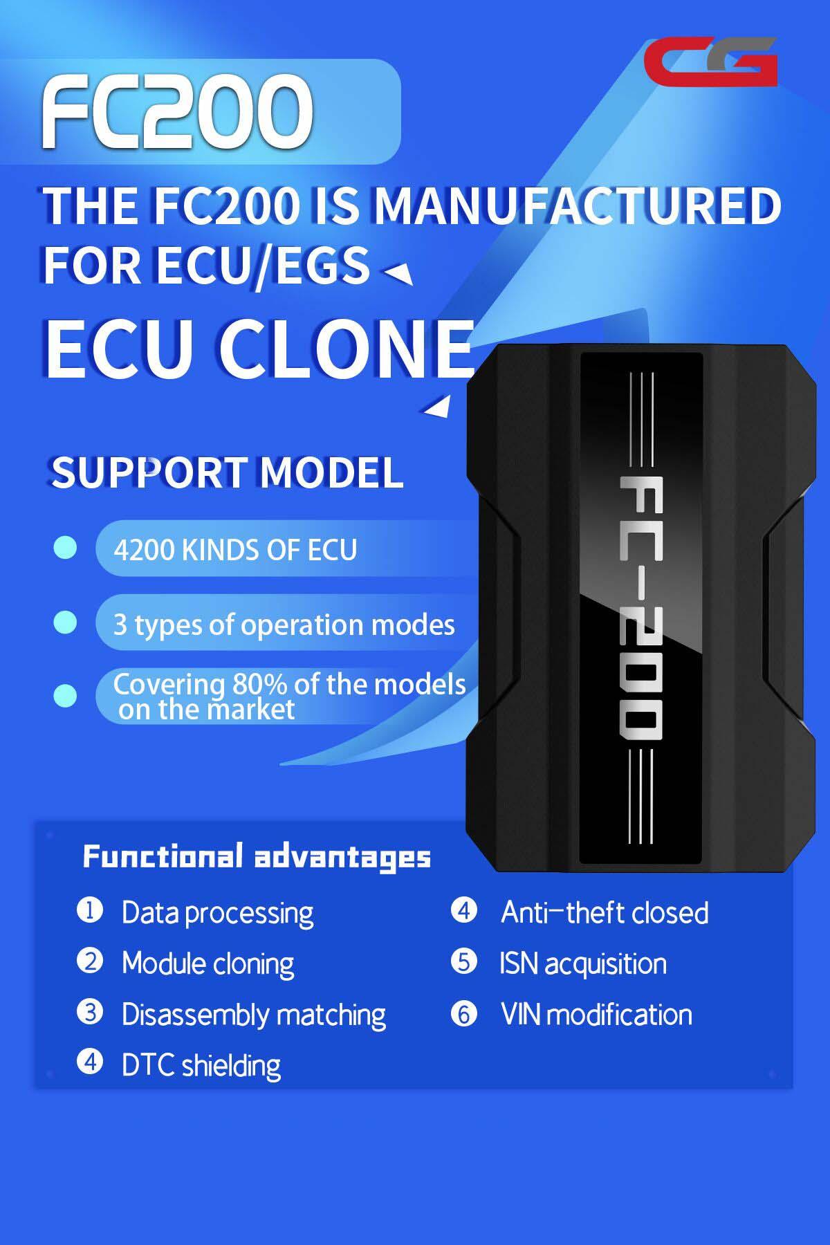 CG FC200 ECU Programmer Full Version