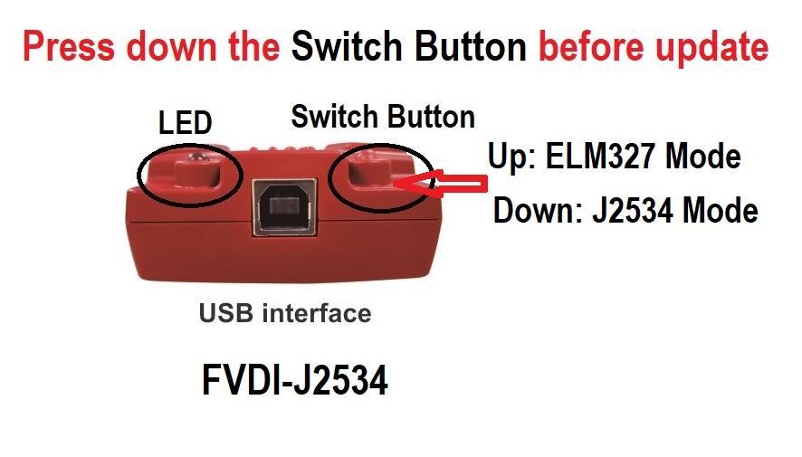 FVDI J2534 switch button